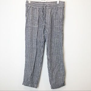OLD NAVY // Linen paper bag jogger pants SMALL